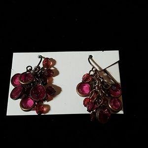 Bunch Purple Stone Antique Color Metal Accents